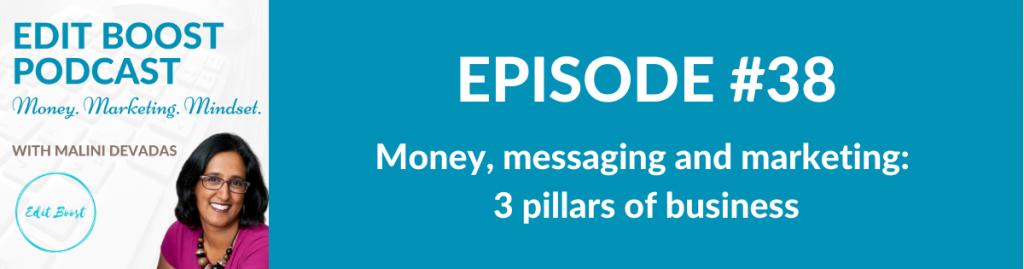 money messaging marketing 3 pillars of business